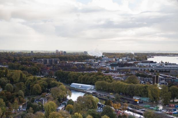Prachtig uitzicht over de stad.