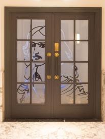 Michiel de Ruyter in glas